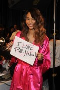Chanel Iman Victoria's Secret Fashion Show Backstage 9.11.2011