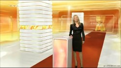 Frauke Ludowig---20.01.12--RTL--black skirt--black Satin blouse--(Germany)