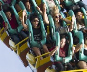 Эшли Бенсон, фото 393. Ashley Benson at Busch Gardens in Tampa Bay 03/03/12*with Vanessa Hudgens, foto 393,