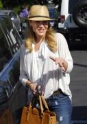 Джули Бенц, фото 1140. Julie Benz leaving Mauros Cafe in Melrose - March 3, 2012, foto 1140