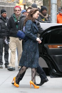 Лейгтон Мистер, фото 6881. Leighton Meester On the Set of 'Gossip Girl' in Manhattan - 05.03.2012, foto 6881