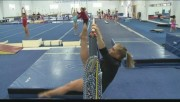 Shawn Johnson Working Out at Chow�s Training Center in West Des Moines, Iowa on April 18, 2012